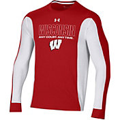 Under Armour Men's Wisconsin Badgers 'Any Court, Any Time' Bench Long Sleeve T-Shirt