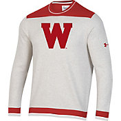 Under Armour Men's Wisconsin Badgers Red Iconic Pullover Sweater