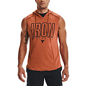 Under Armour Men's Project Rock Terry Iron Sleeveless Hoodie