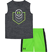 Under Armour Little Boys' Home Plate Baseball Tank Top and Shorts Set