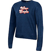 Under Armour Women's Auburn Tigers Blue All Day Fleece Crew-Neck Sweatshirt