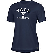 Under Armour Women's Yale Bulldogs Yale Blue Performance Cotton T-Shirt