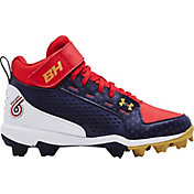 Under Armour Kids' Harper 6 Mid RM LE Baseball Cleats