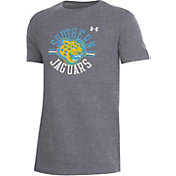 Under Armour Youth Southern University Jaguars Grey Performance Cotton T-Shirt