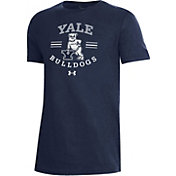 Under Armour Youth Yale Bulldogs Yale Blue Performance Cotton T-Shirt