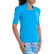 SwingDish Women's Kali Mid Sleeve Golf Shirt