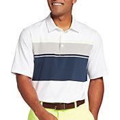 Walter Hagen Men's Perfect 11 Yarn Dye Chest Stripe Golf Polo