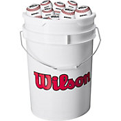Wilson Bucket of 24 Leather Baseballs