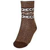 Northeast Outfitters Men's Cozy Cabin Brushed Heather Tribal Print Crew Socks