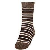Northeast Outfitters Men's Cozy Cabin Brushed Heather Striped Crew Socks