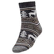 Northeast Outfitters Men's Cozy Cabin Moose Print Crew Socks