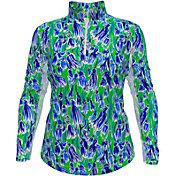 IBKUL Women's Long Sleeve 1/4 Zip Golf Polo
