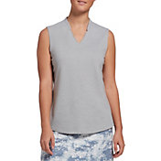 Lady Hagen Women's Heathered Sleeveless Golf Polo