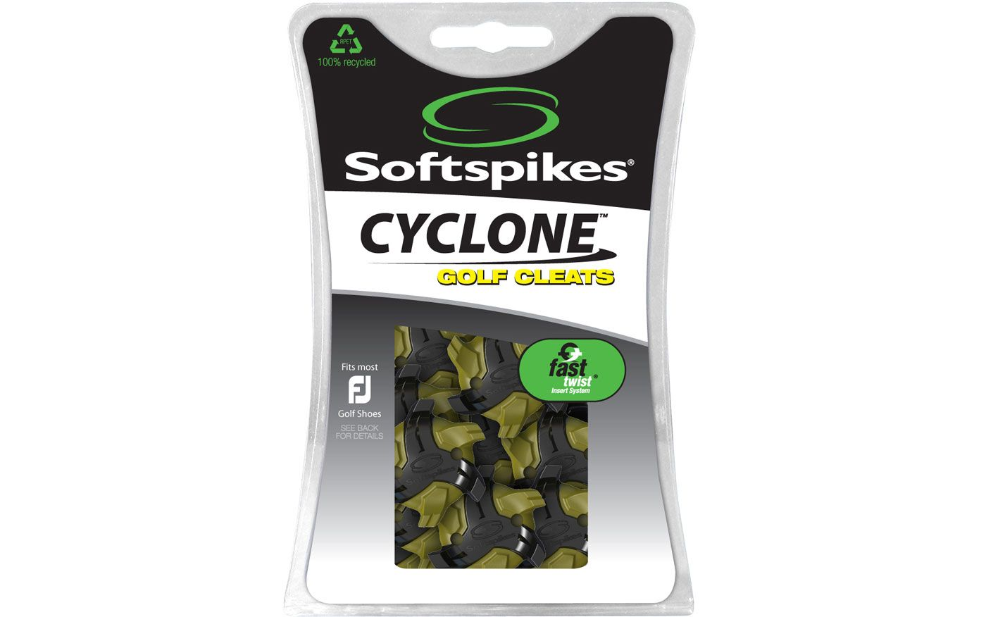 Softspikes Cyclone Fast Twist Golf Spikes - 18 Pack