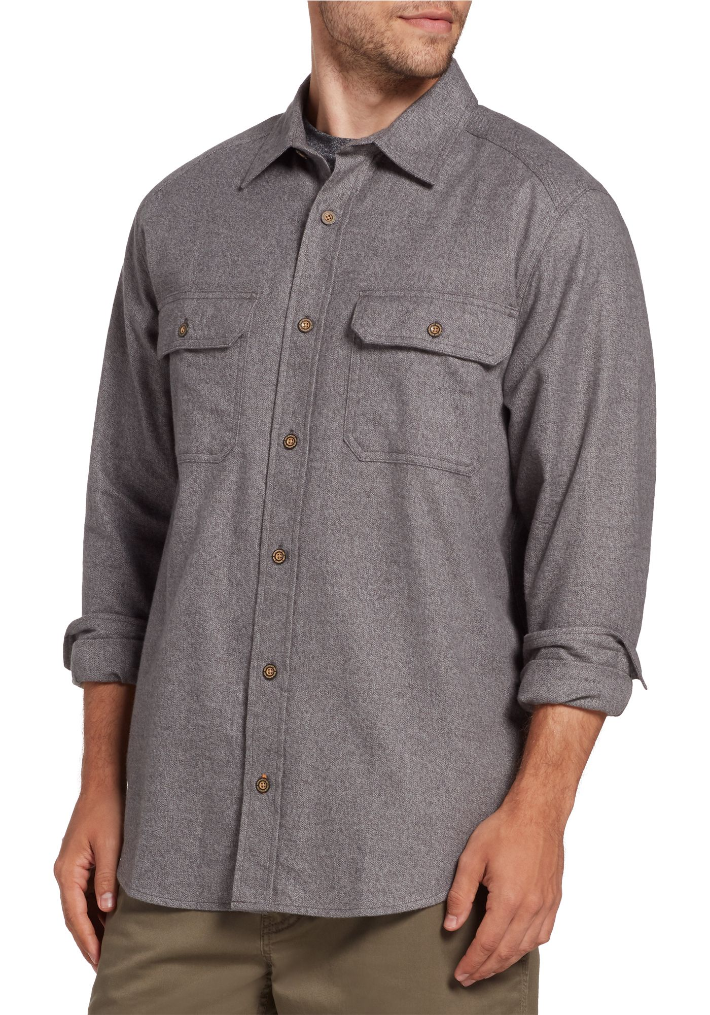 Field and Stream Men's Heritage Jaspe Heathered Flannel