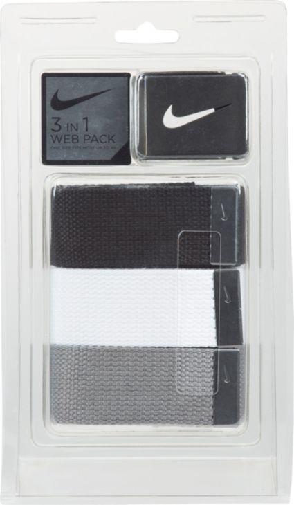a8cb7b281da341 Nike Men s Web Golf Belt 3-Pack