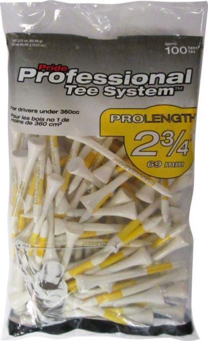 Pride PTS White Golf Tees - 75 Pack