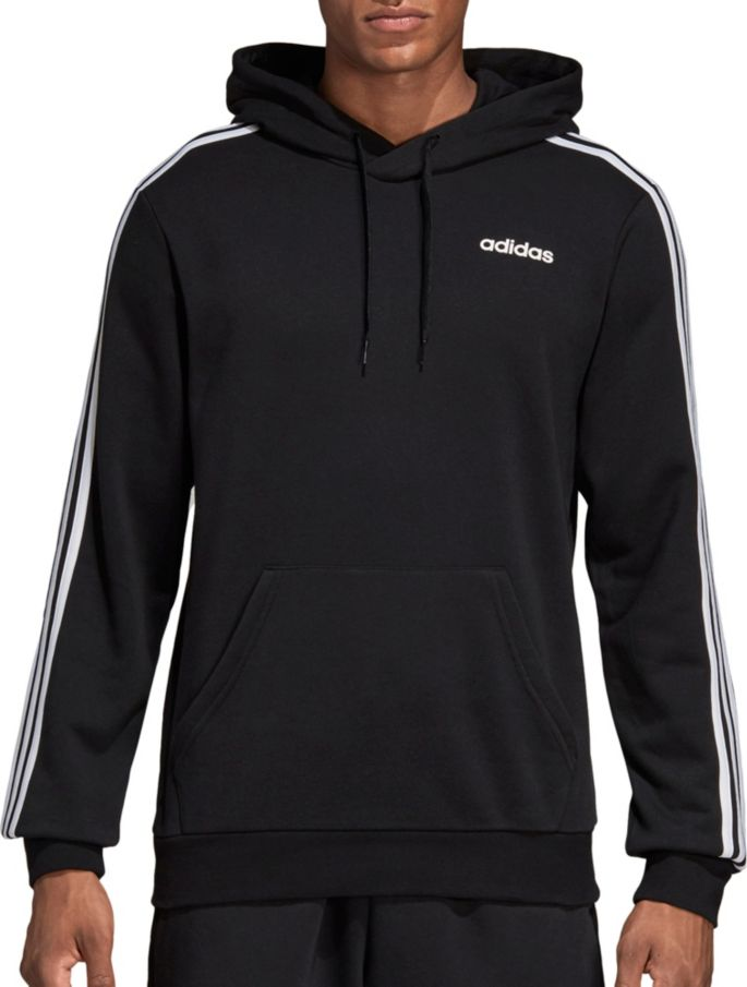 adidas Men's Essentials 3 Stripes French Terry Hoodie