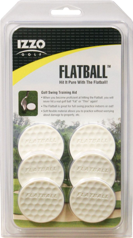 Izzo Flatball Golf Swing Training Aid 6 Pack