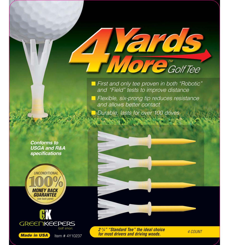 """GreenKeepers 2.75"""" 4 More Yards Golf Tees - 4 Pack"""