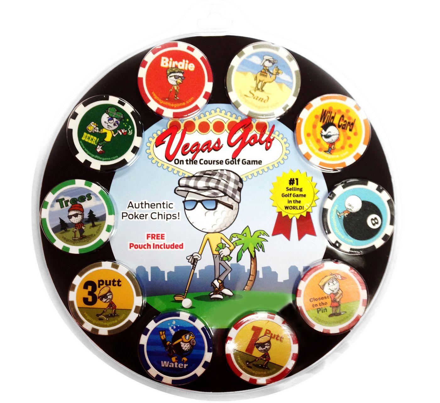 Vegas Golf Group Poker Game - 10 Chip Set