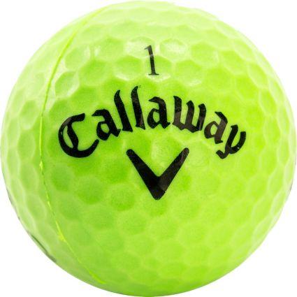Callaway HX Lime Practice Balls - 9 Pack