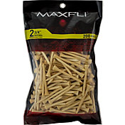 "Maxfli 2.75"" Natural Golf Tees – 200-Pack"