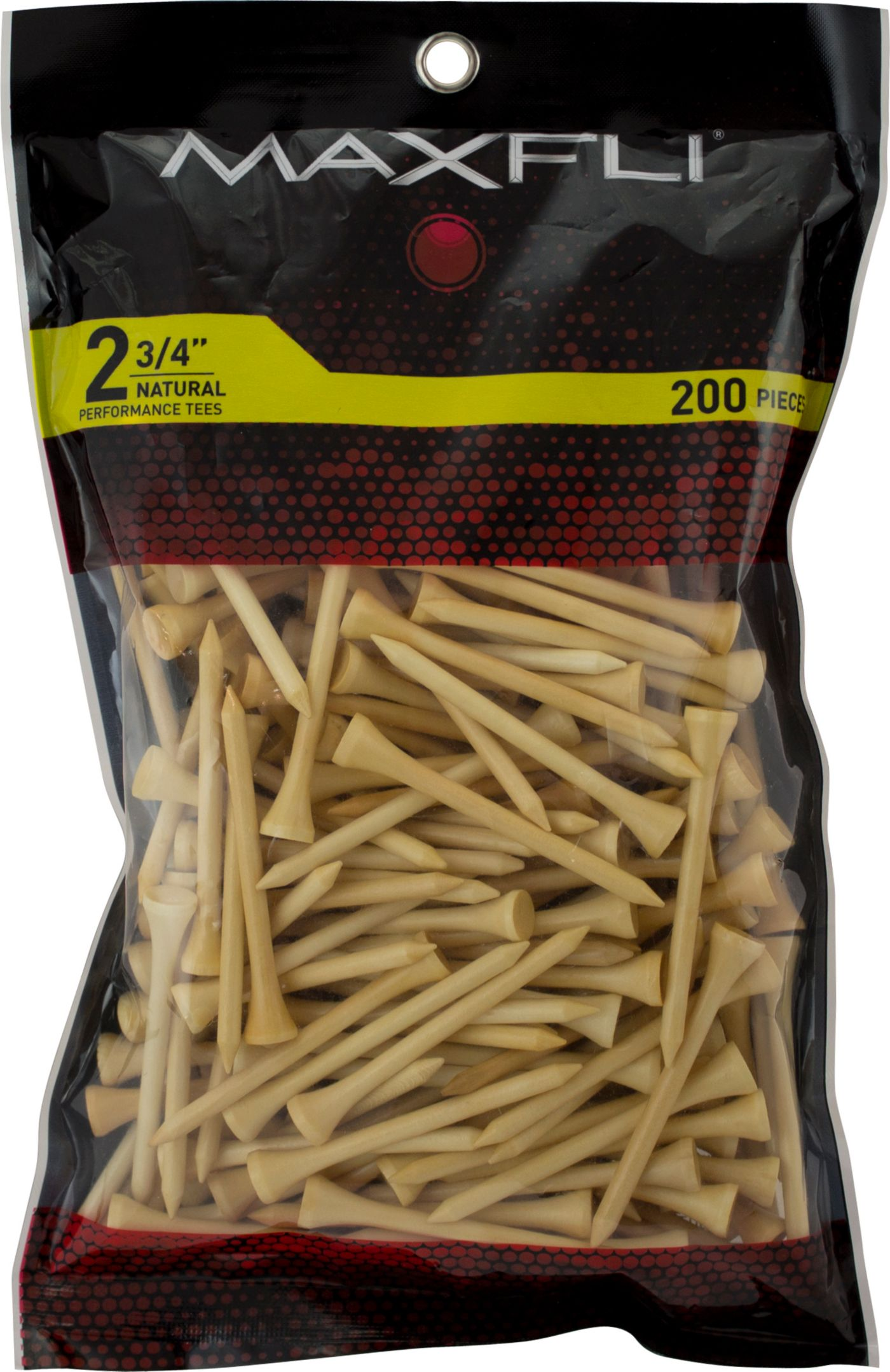 Maxfli 2 3/4'' Natural Golf Tees - 200 Pack