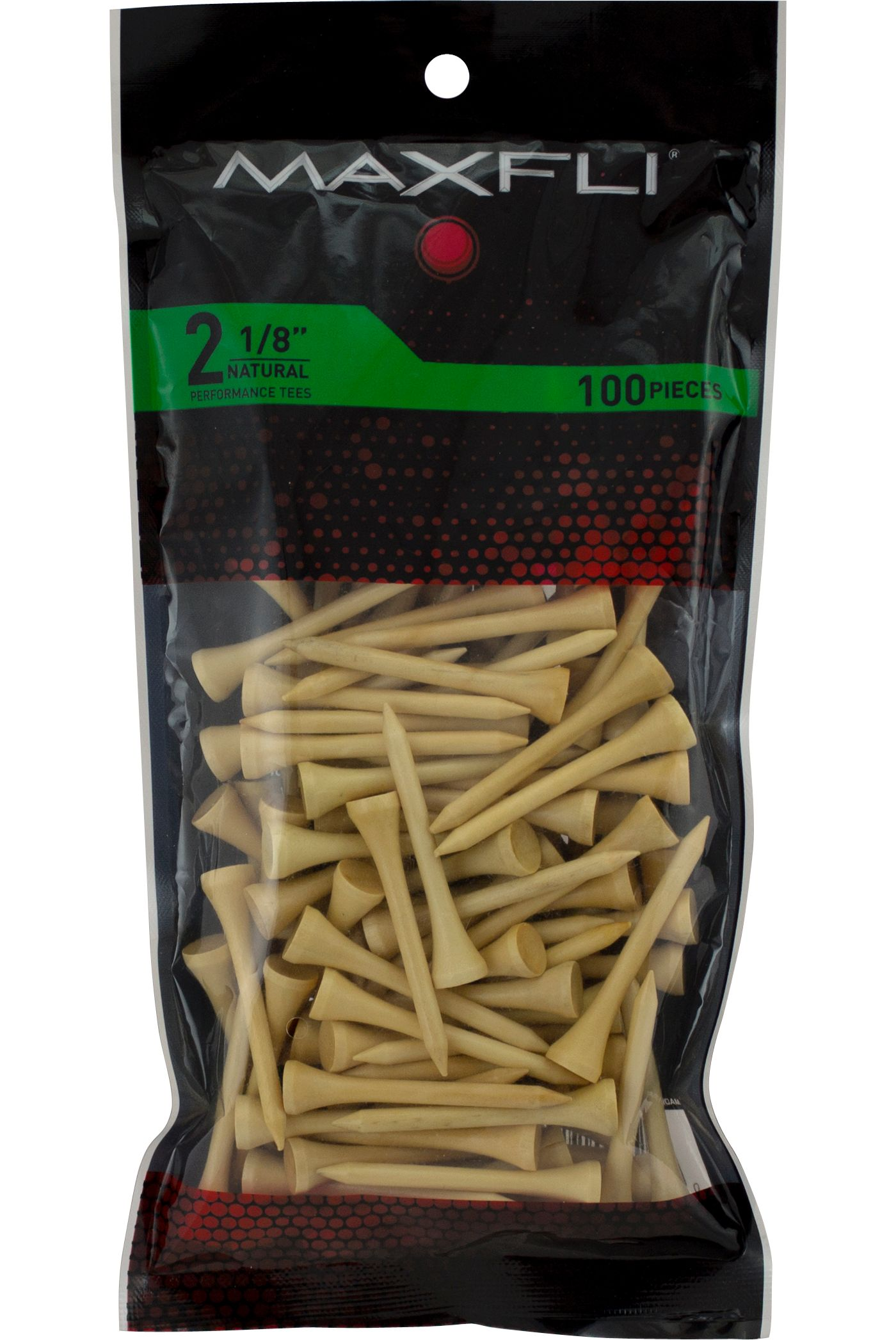 Maxfli 2 1/8'' Natural Golf Tees - 100 Pack