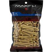 Maxfli 3.25'' Natural Golf Tees – 200-Pack
