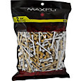 Maxfli 2.75'' Natural/White Golf Tees – 500-Pack