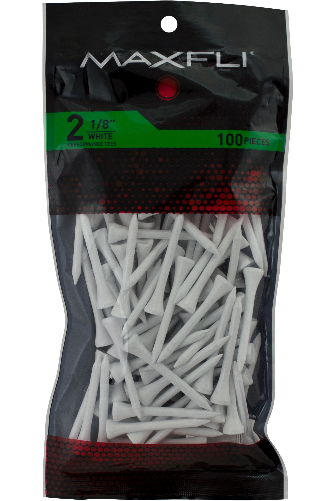 Maxfli 2 1/8'' White Golf Tees - 100 Pack