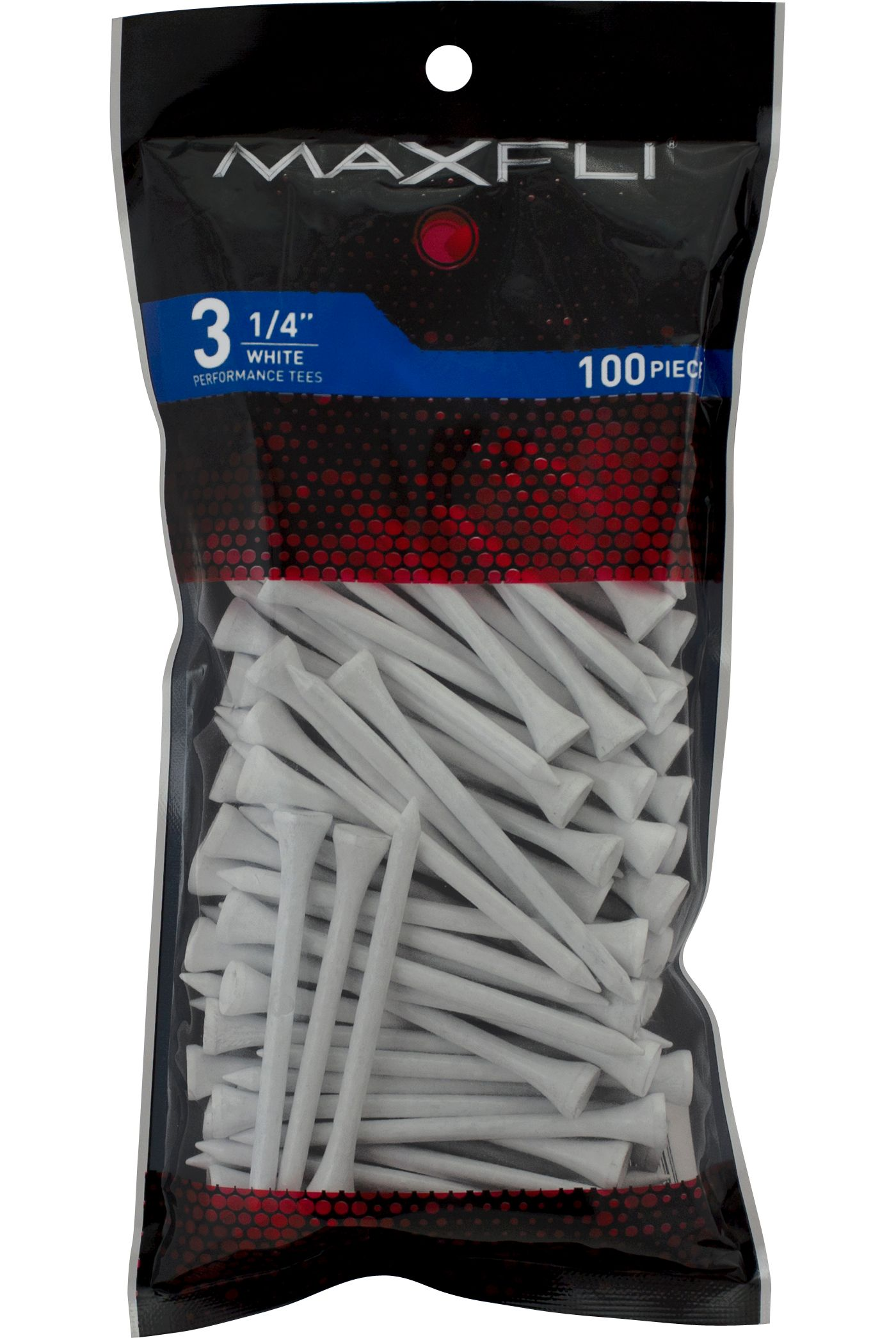 Maxfli 3 1/4'' White Golf Tees - 100 Pack