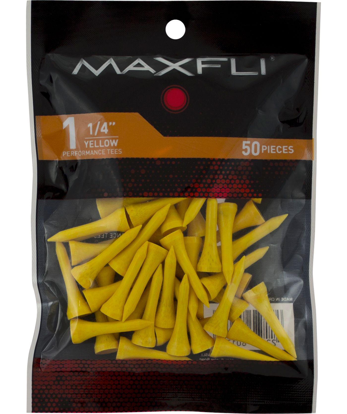 Maxfli 1 1/4'' Yellow Golf Tees - 50 Pack