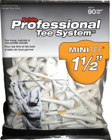 Pride PTS 1 1/2'' White Golf Tees - 90 Pack