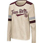 Colosseum Women's Texas A&M Aggies Oatmeal Itchy Brain Long Sleeve T-Shirt