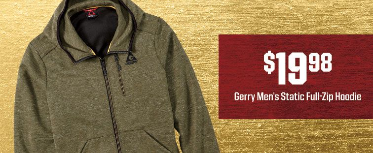 $19.98 - Gerry Men's Static Full-Zip Hoodie