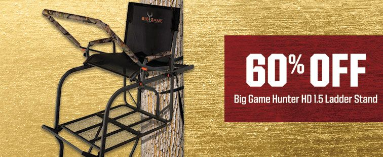 60% Off - Big Game Hunter HD 1.5 Ladder Stand