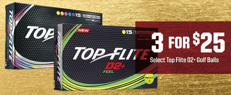3 FOR $25 - Select Top Flite D2+ Golf Ball