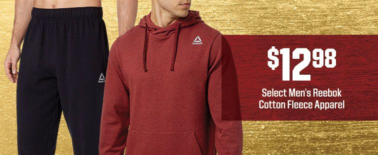 $12.98 - Select Men's Reebok Cotton Fleece Apparel