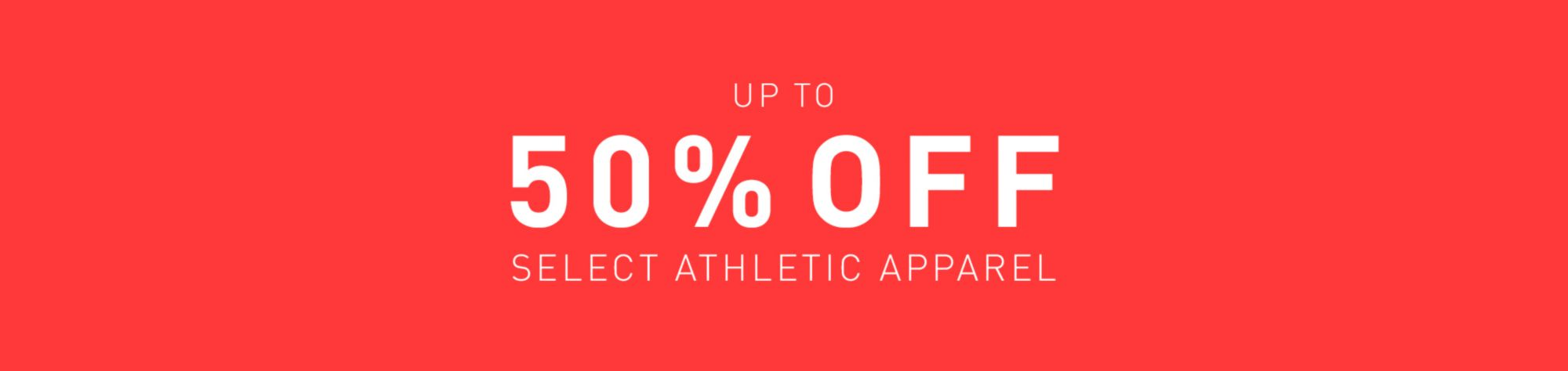Select Athletic Apparel - Up to 50% Off