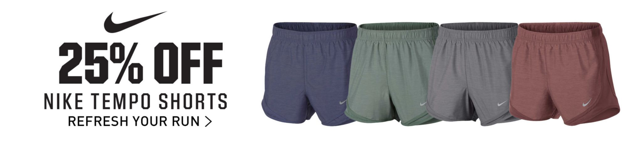 25% Off Nike Tempo Shorts - Shop Now