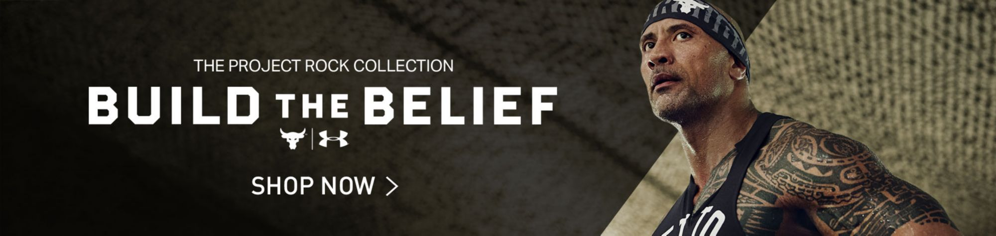 The Rock Under Armour Build The Belief Collection - Shop Now