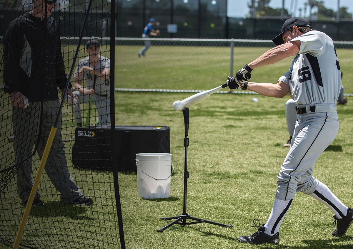 Baseball training aids that allow players to stay focused on their game when they can't practice with the team..