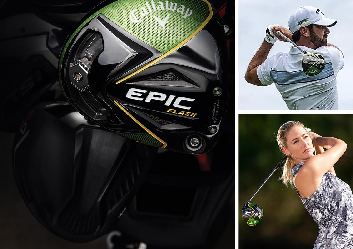 Multiple images featuring golfers using the Callaway Epic Flash Drivers.