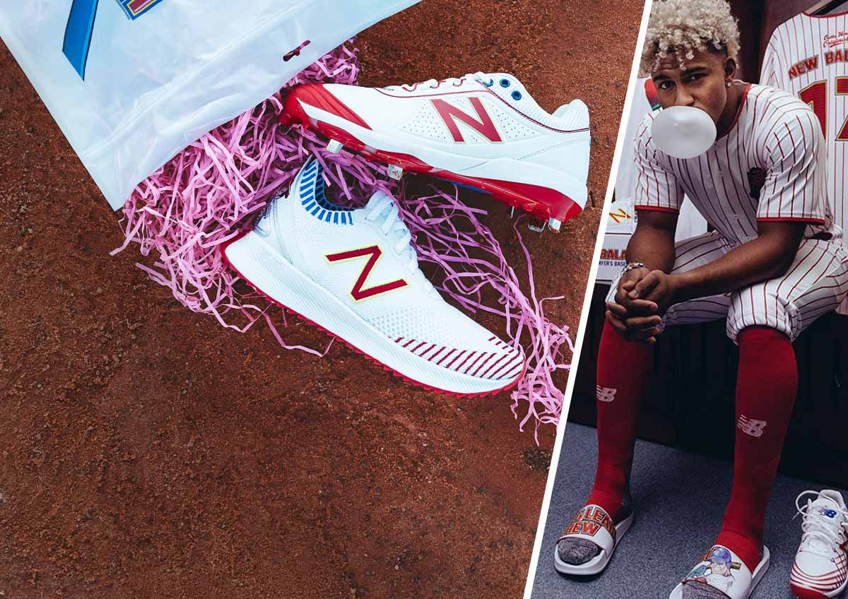 Big League Chew by New Balance cleats and gear.