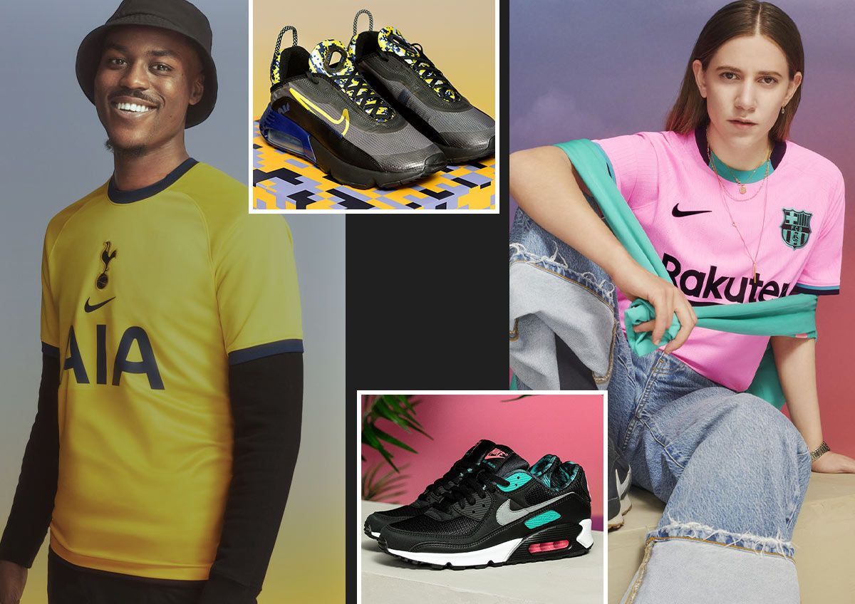 Images feature cool people wearing perfectly matched soccer jerseys with Nike air Max shoes.