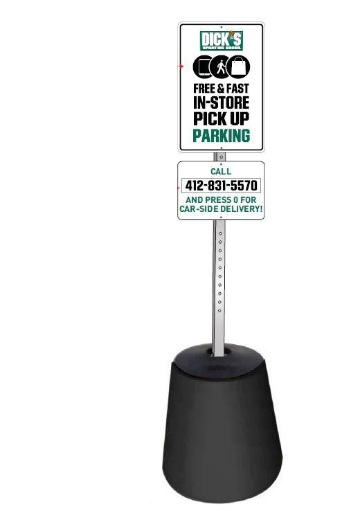 Carside pick-up parking sign