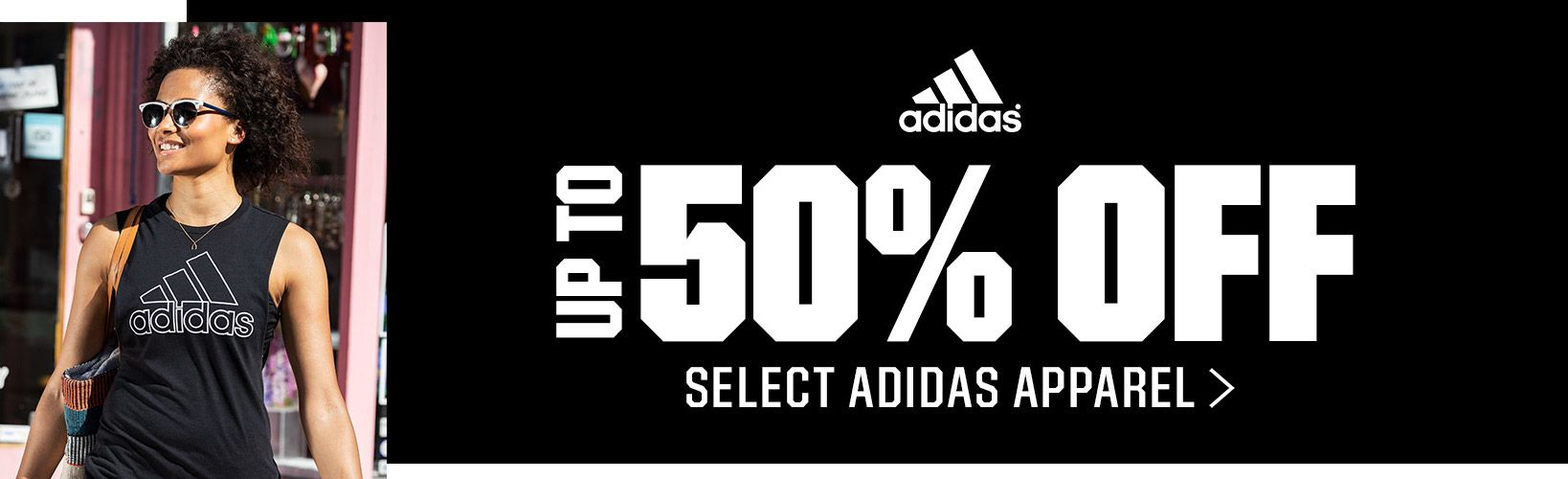 Up To 50% off Select Adidas Apparel