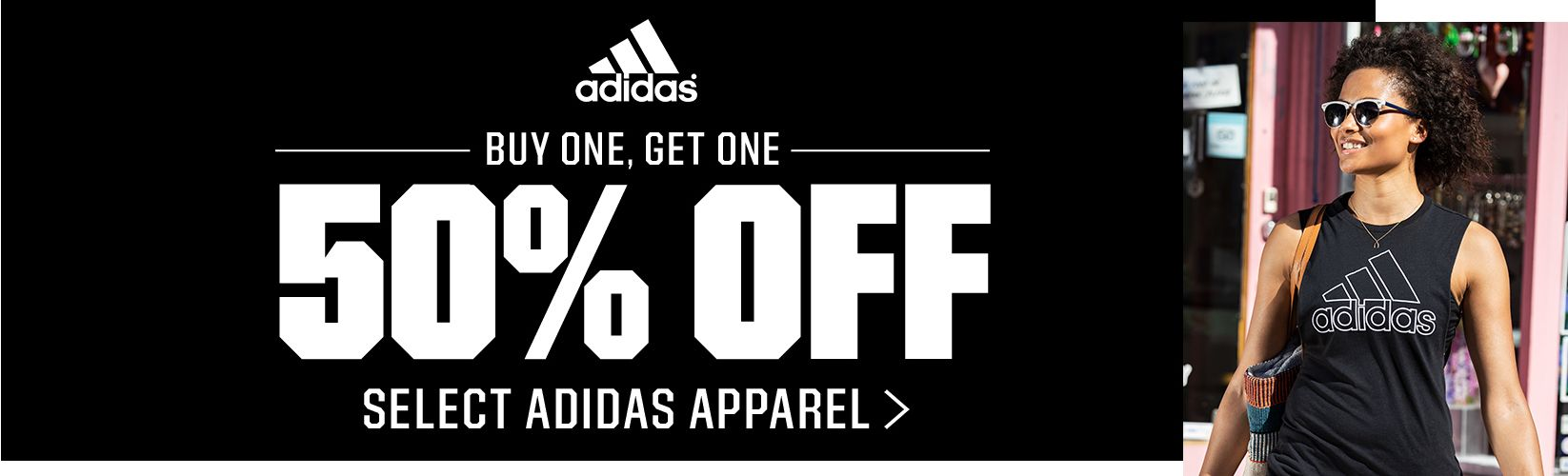 Buy one, get one 50% Off Select adidas Apparel